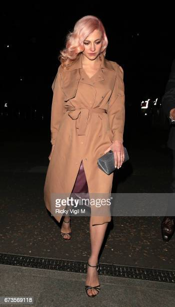 Pixie Lott attends Lost In Space anniversary party at Tate Modern to mark the 60th anniversary of Speedmaster on April 26 2017 in London England
