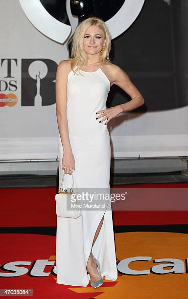 Pixie Lott attends The BRIT Awards 2014 at 02 Arena on February 19 2014 in London England