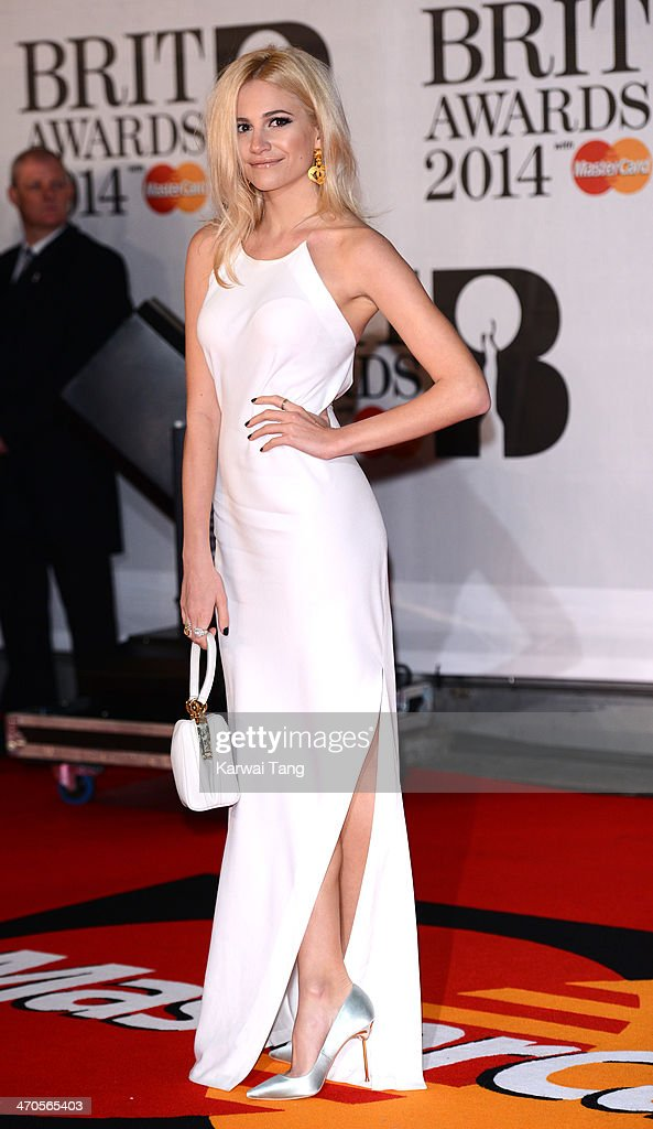 Pixie Lott attends The BRIT Awards 2014 at 02 Arena on February 19, 2014 in London, England.