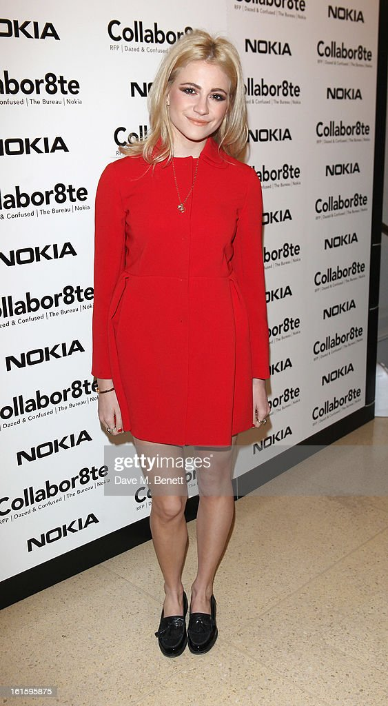 Pixie Lott attends the Collabor8te Connected by NOKIA Premiere at Regent Street Cinema on February 12, 2013 in London, England.