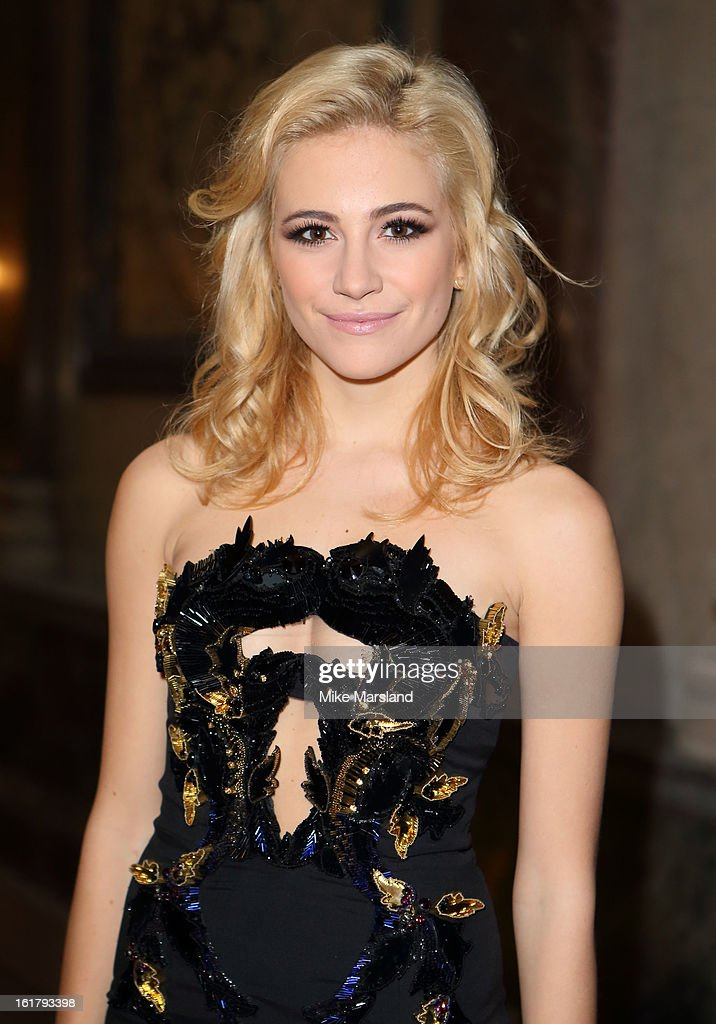 Pixie Lott attends the Julien Macdonald show during London Fashion Week Fall/Winter 2013/14 at Goldsmiths' Hall on February 16, 2013 in London, England.