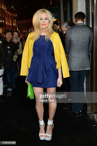 Pixie Lott attends the Karl Lagerfeld flagship store opening at Regent Street on March 13 2014 in London England