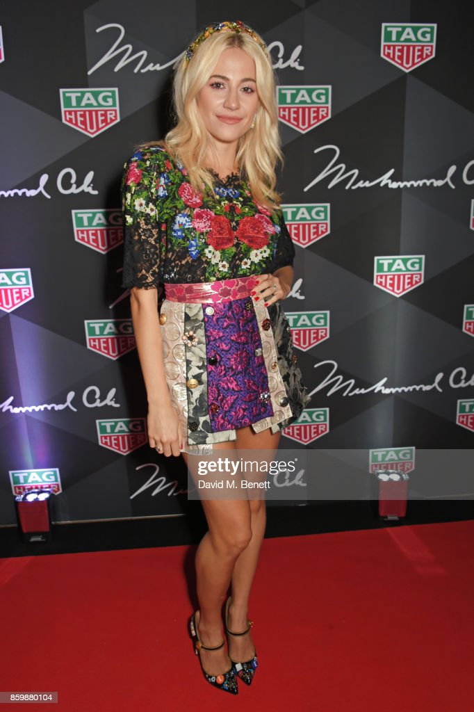 Pixie Lott attends the launch of the TAG Heuer Muhammad Ali Limited Edition Timepieces at BXR Gym on October 10, 2017 in London, England.