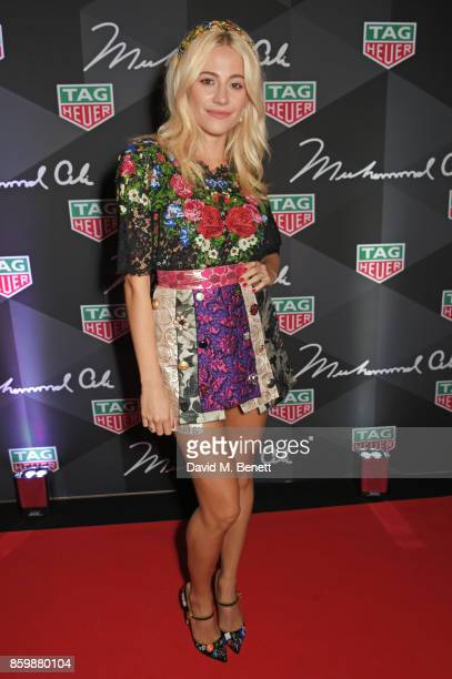 Pixie Lott attends the launch of the TAG Heuer Muhammad Ali Limited Edition Timepieces at BXR Gym on October 10 2017 in London England