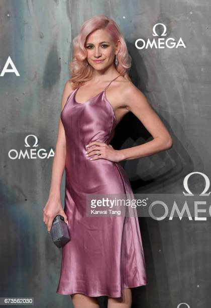 Pixie Lott attends the Lost In Space event to celebrate the 60th anniversary of the OMEGA Speedmaster at the Tate Modern on April 26 2017 in London...