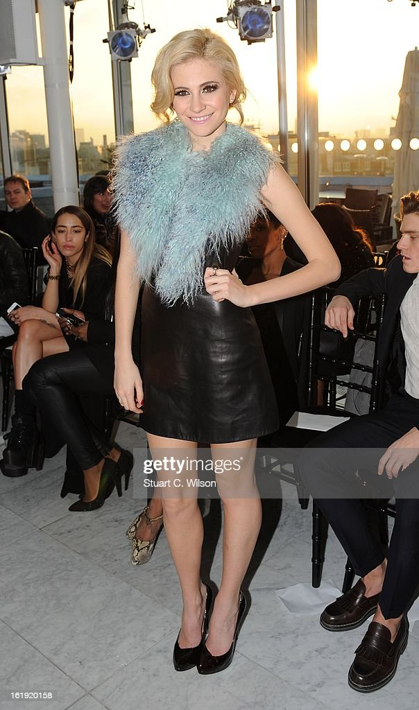Pixie Lott attends the Mark Fast salon show during London Fashion Week Fall/Winter 2013/14 at ME Hotel on February 17, 2013 in London, England.