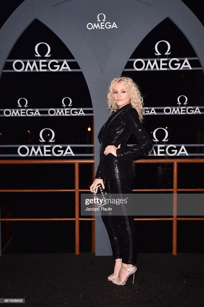 Pixie Lott attends the OMEGA Aqua Terra at Palazzo Pisani Moretta on October 28, 2017 in Venice, Italy.