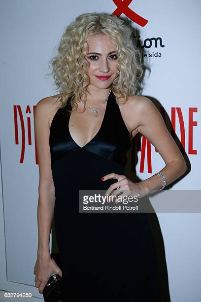 Pixie Lott attends the Sidaction Gala Dinner 2017 Haute Couture Spring Summer 2017 show as part of Paris Fashion Week on January 26 2017 in Paris...