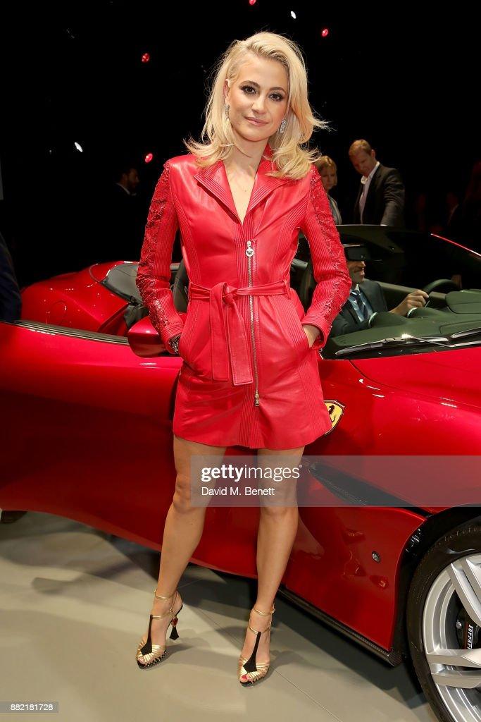 Pixie Lott attends the UK launch of the Ferrari Portofino at Kensington Olympia on November 29, 2017 in London, England.