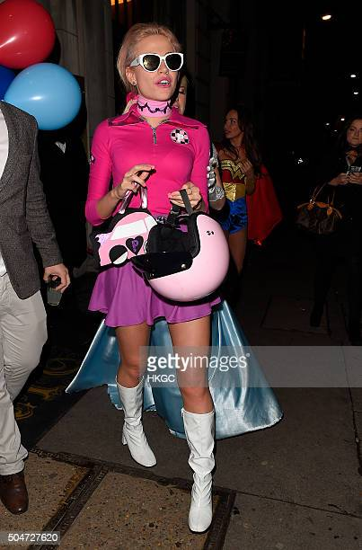 Pixie Lott celebrates her birthday with a fancy dress party at Steam Rye rstaurant and bar in East London on January 12 2016 in London England
