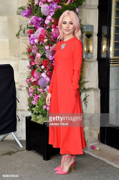 Pixie Lott is seen arriving at the 'Schiaparelli' show during Paris Fashion Week Haute Couture Fall/Winter 20172018 on July 3 2017 in Paris France