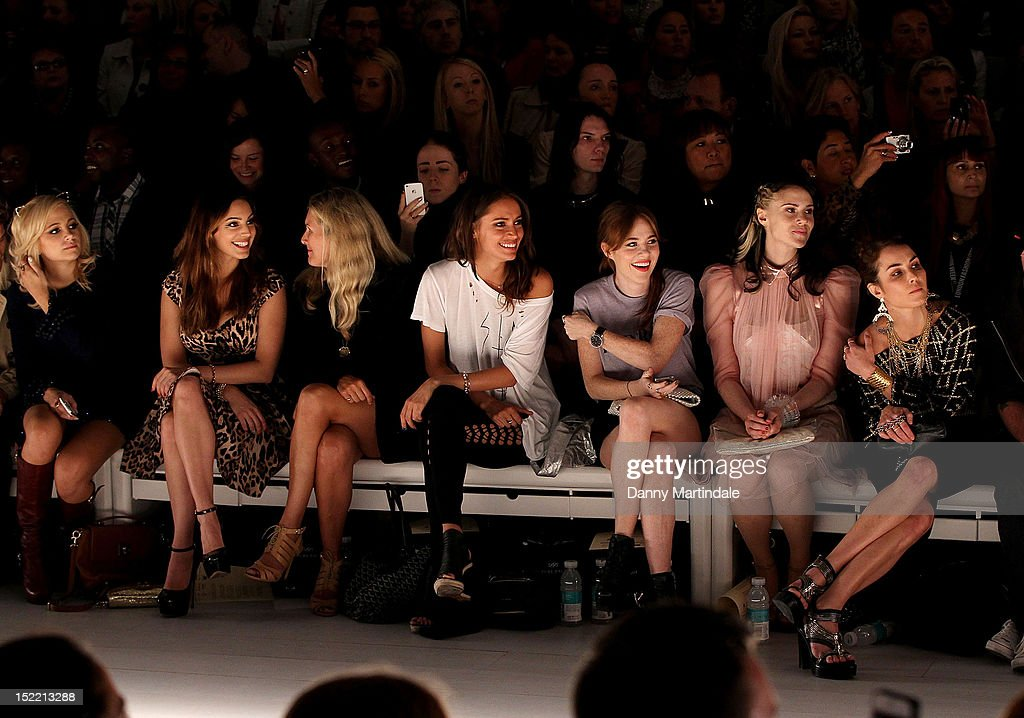 Pixie Lott Kelly Brook Kate Nash and actress Noomi Rapace attend the front row for the Mark Fast show on day 4 of London Fashion Week Spring/Summer...