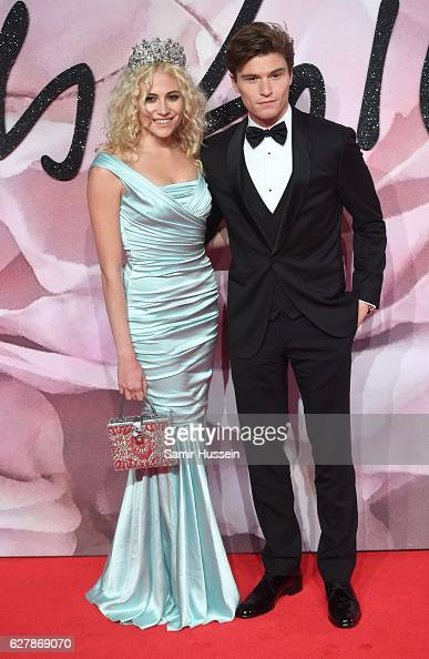 Pixie Lott Oliver Cheshire attend The Fashion Awards 2016 on December 5 2016 in London United Kingdom