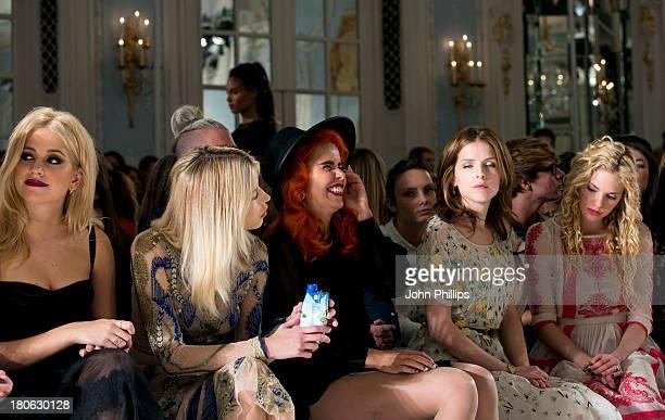 Pixie Lott Peaches Geldof Paloma Faith Anna Kendrick and MacKenzie Mauzy attend the Temperley London show during London Fashion Week SS14 at The...