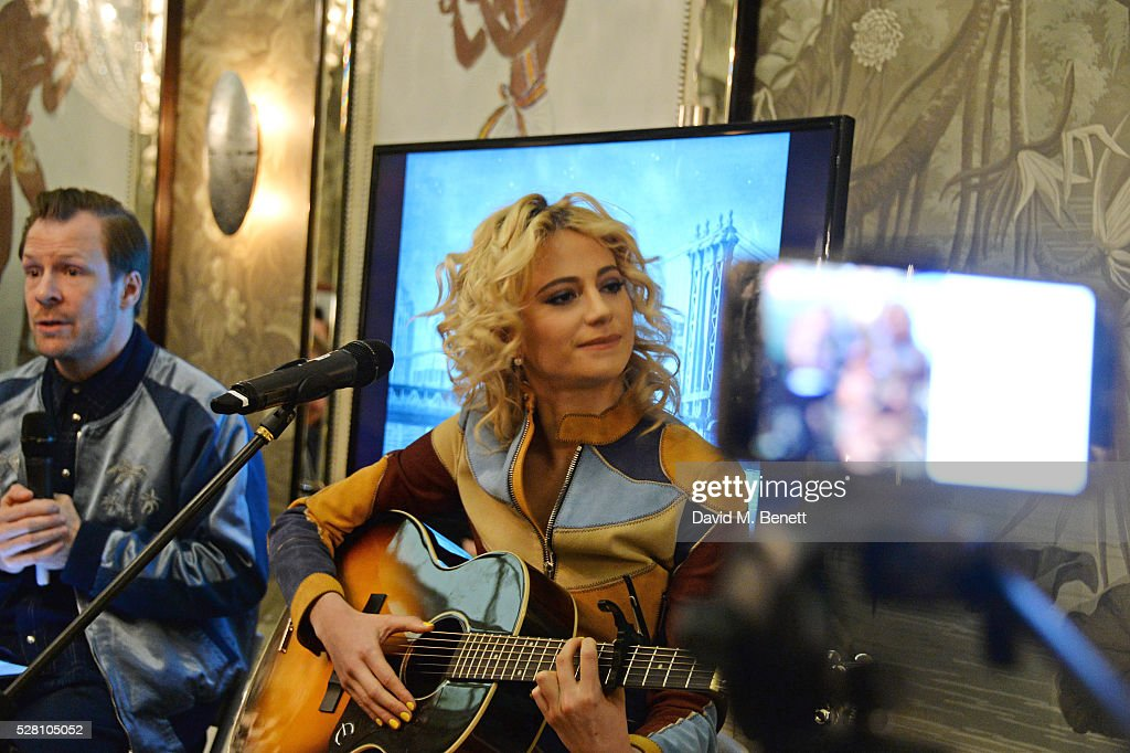 Pixie Lott performs at the press launch for the West End production of 'Breakfast At Tiffany's' at The Haymarket Hotel on May 4, 2016 in London, England.