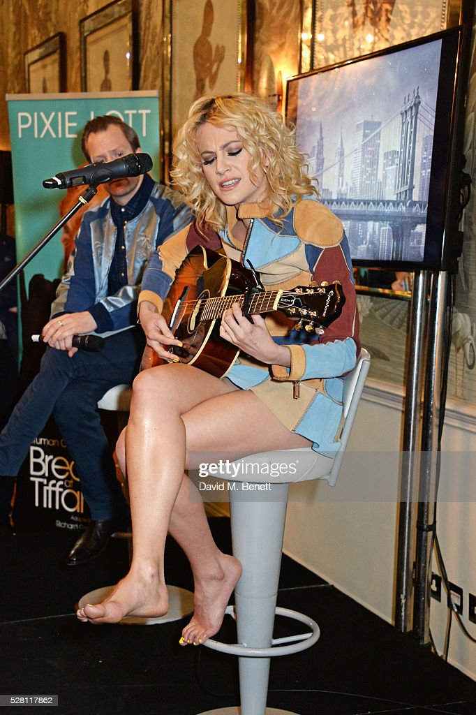 <a gi-track='captionPersonalityLinkClicked' href=/galleries/search?phrase=Pixie+Lott&family=editorial&specificpeople=5591168 ng-click='$event.stopPropagation()'>Pixie Lott</a> performs at the press launch for the West End production of 'Breakfast At Tiffany's' at The Haymarket Hotel on May 4, 2016 in London, England.