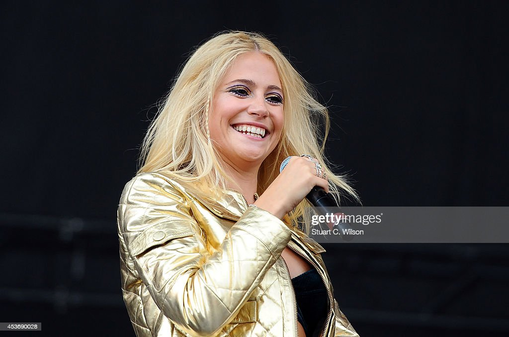 Pixie Lott performs on Day 1 of the V Festival at Hylands Park on August 16, 2014 in Chelmsford, England.