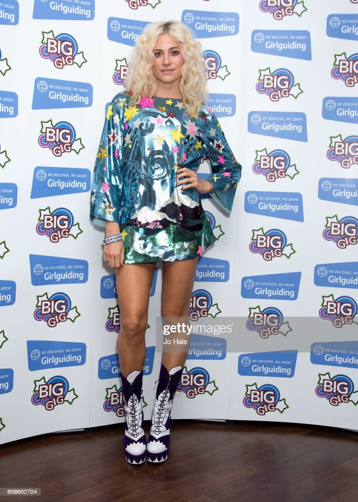 Pixie Lott poses at Girlguiding UK's Big Gig at SSE Arena on October 7, 2017 in London, England.