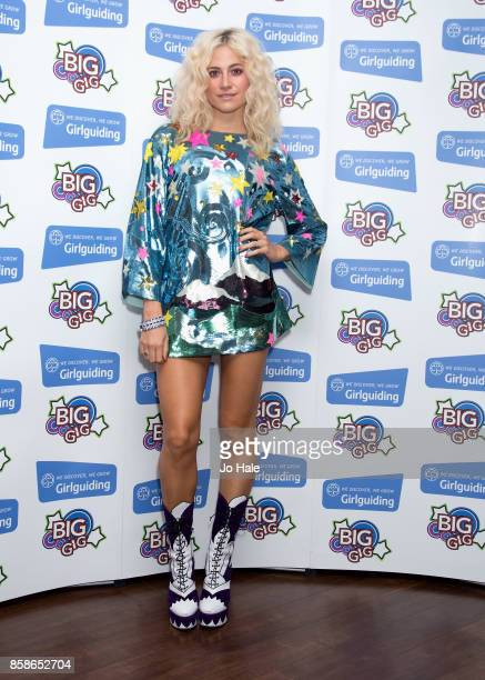 Pixie Lott poses at Girlguiding UK's Big Gig at SSE Arena on October 7 2017 in London England