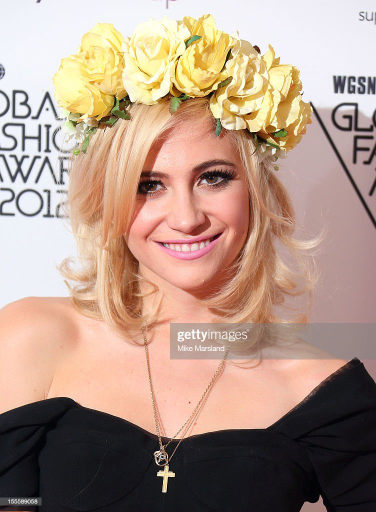 Pixie Lott poses in the awards room at the WGSN Global Fashion Awards at The Savoy Hotel on November 5, 2012 in London, England.