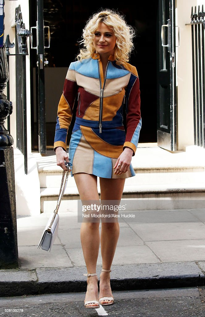<a gi-track='captionPersonalityLinkClicked' href=/galleries/search?phrase=Pixie+Lott&family=editorial&specificpeople=5591168 ng-click='$event.stopPropagation()'>Pixie Lott</a> seen leaving the Haymarket Hotel after the 'Breakfast at Tiffany's' London launch on May 4, 2016 in London, England.