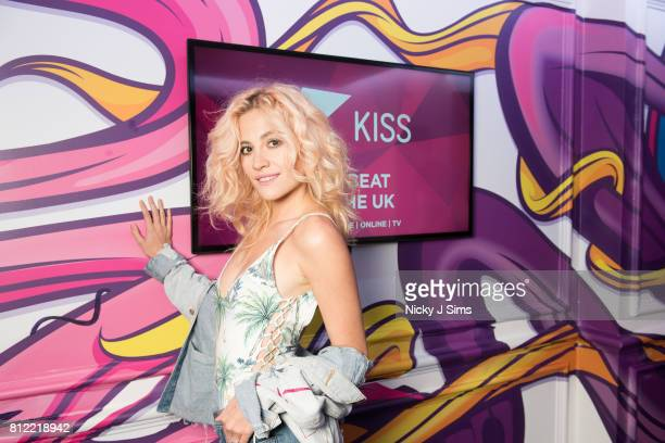 Pixie Lott visits the Kiss FM Studio's on May 17 2017 in London England