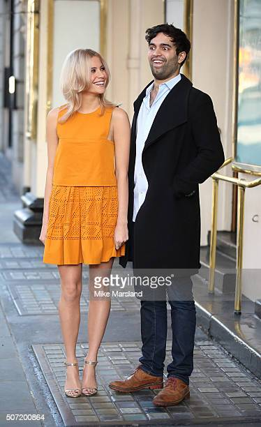 Pixie Lott who play's Holly Golightly and Charlie De Melo attend photocall for a new stage adaptation of Truman Capote's Breakfast at Tiffany's on at...