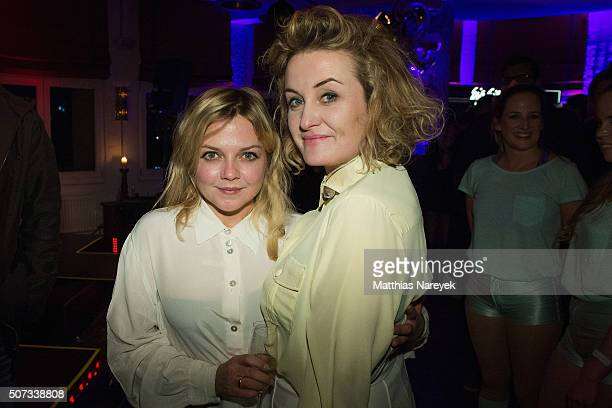 Pixie Paris and Anett Louisan attend the EIS party at Soho house on January 28 2016 in Berlin Germany