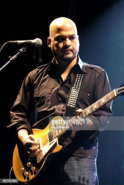 Pixies guitarist Joey Santiago performs with the band at the Aragon Ballroom on November 19 2009 in Chicago Illinois