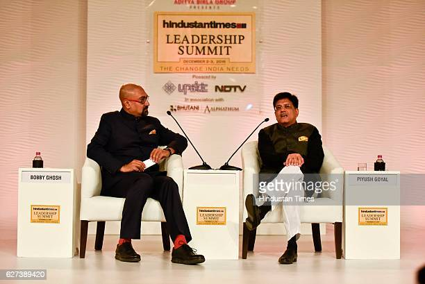 Piyush Goyal Union Minister of State with Independent Charge for Power Coal New and Renewable Energy and Mines in conversation with Bobby Gosh...