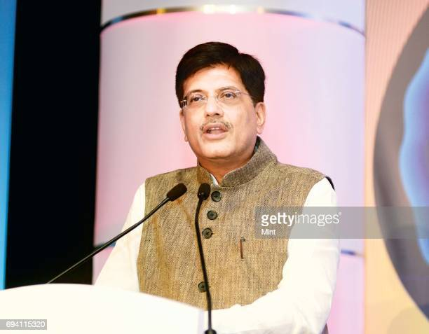 Piyush GoyalMinister of State with Independent Charge for Power Coal and New Renewable Energy addressing Business of lighting conference in Delhi