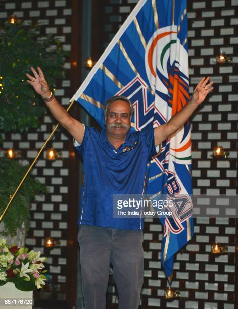 Piyush Pandey during the party organised to celebrate Mumbai Indians victory in the Indian Premier League 2017 in Mumbai