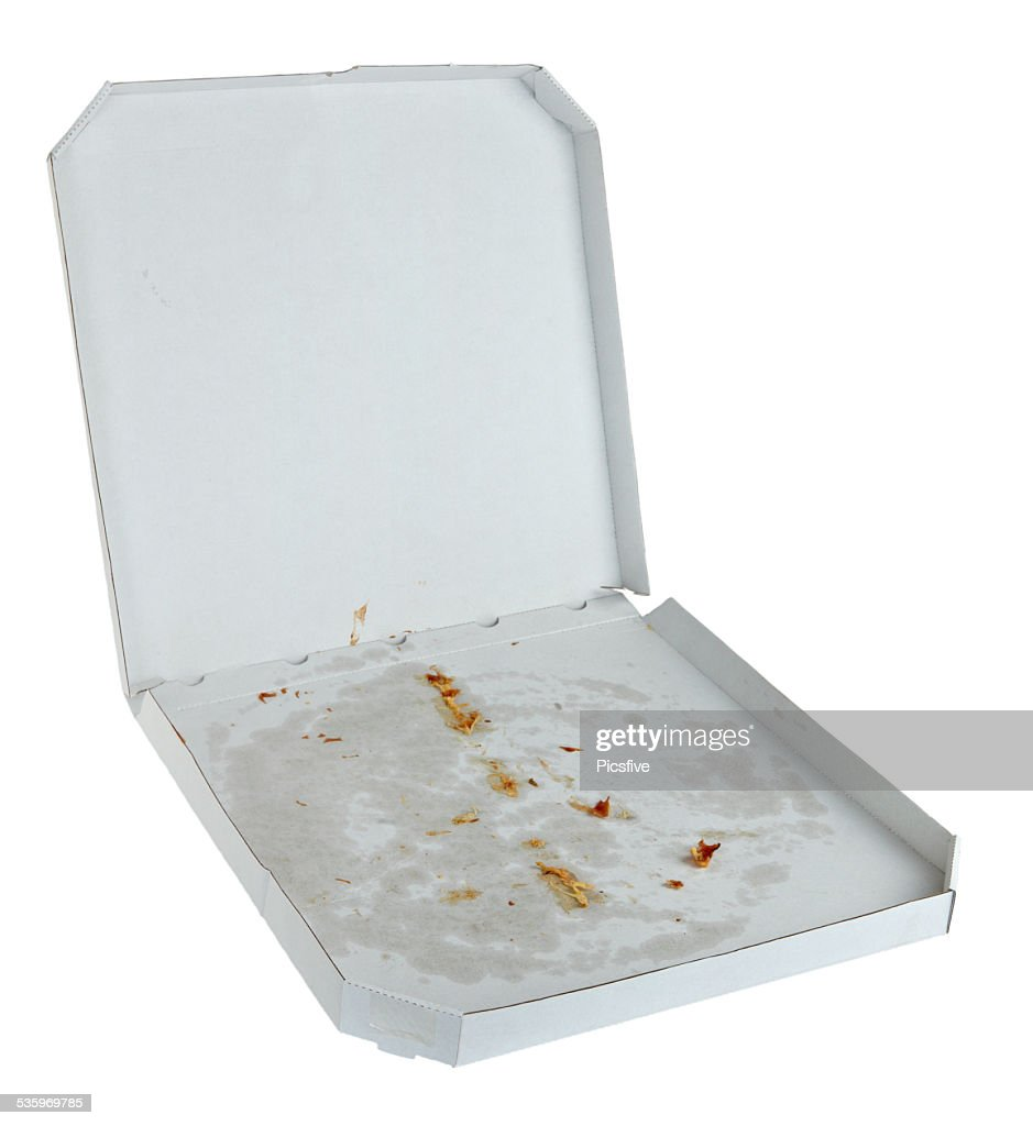 pizza box delivery package fast food : Stock Photo