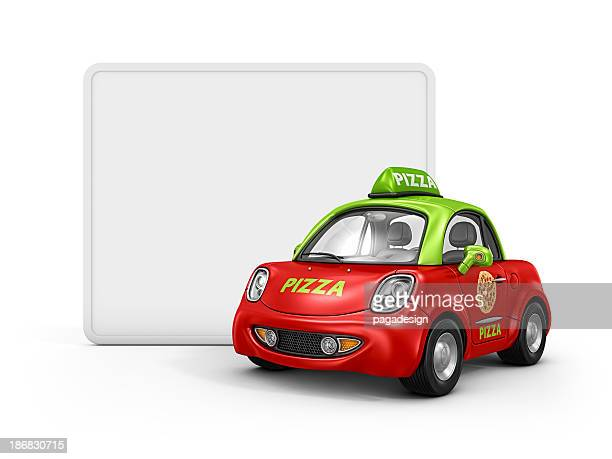 pizza car and whiteboard