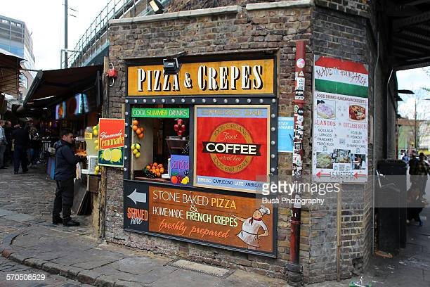 Pizza & Crepes kiosk at the basis of