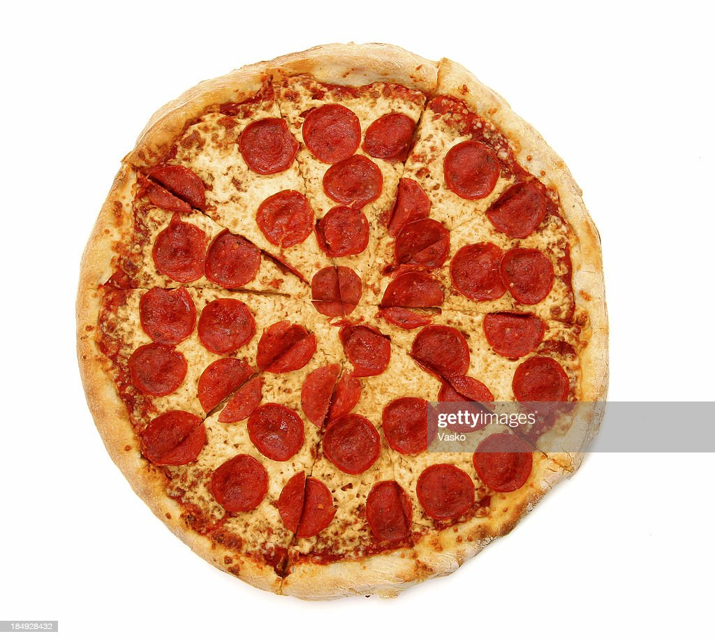 Pizza from the top - Pepperoni & Cheese