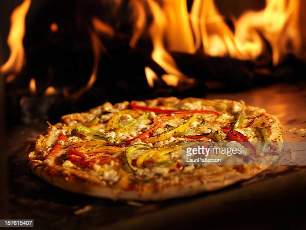 Pizza in a Wood Burning oven