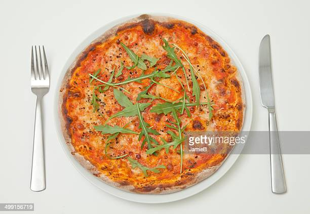 Pizza on a plate
