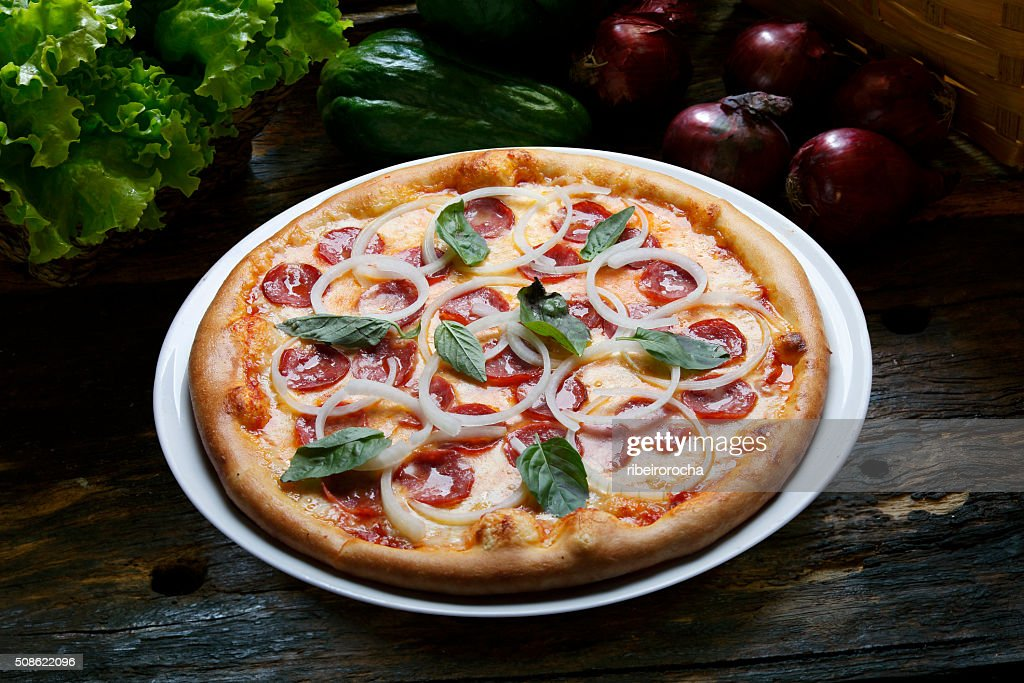 Pizza  pepperoni : Stock Photo