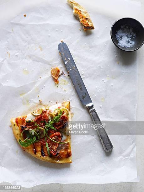 pizza slice on table