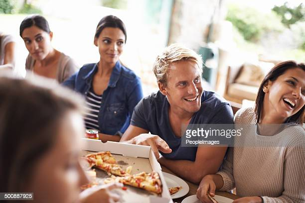 Pizza con gli amici