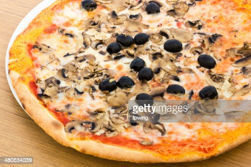 Pizza with mushrooms : Stock Photo