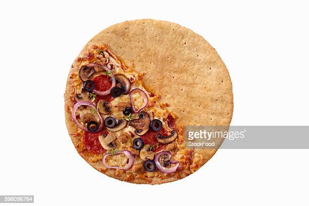 Pizza with Toppings Only on Half the Crust; The Other Half Plain