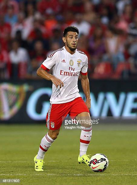 Pizzi of Benfica in action during the 2015 International Champions Cup match against Paris SaintGermain at BMO Field on July 18 2015 in Toronto...