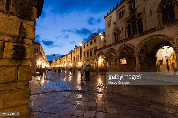 Placa stradun, Main street, Dubrovnik, Croatia