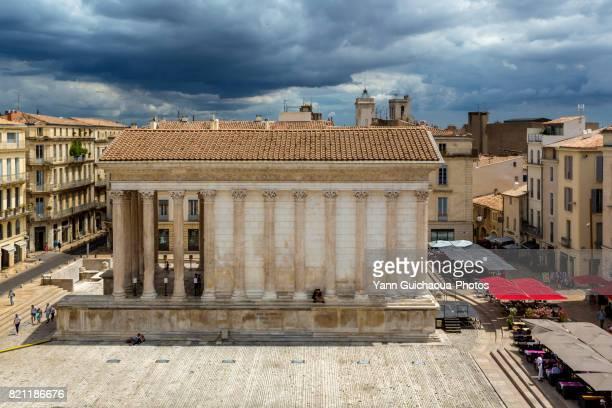 Place de la Maison Carree, Nimes, Gard, France