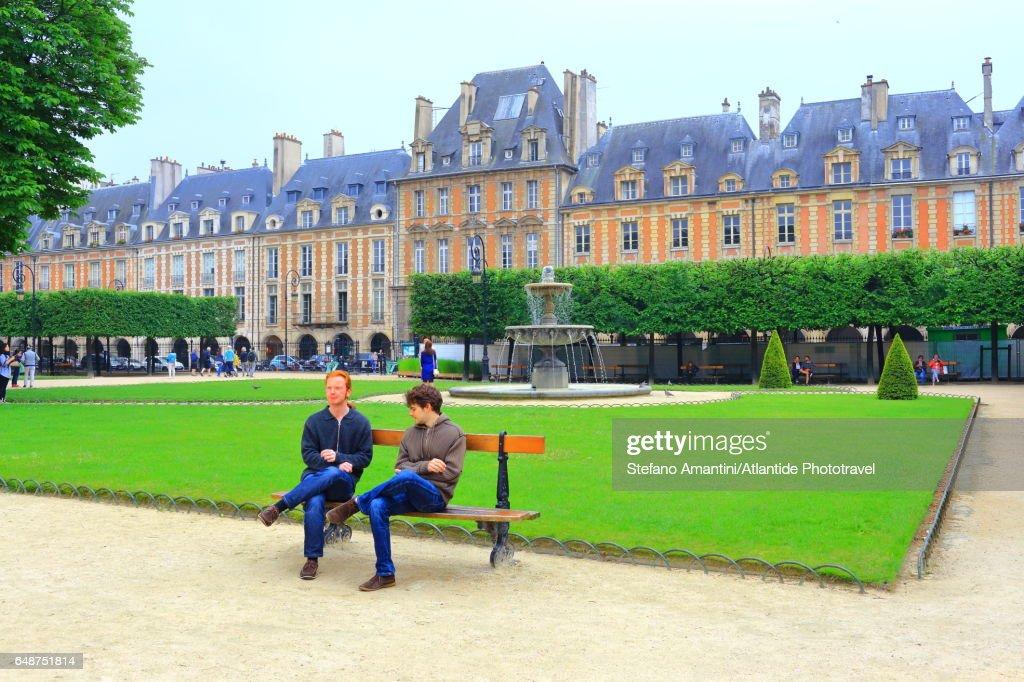 Place de Vosges (square), park : Stock Photo