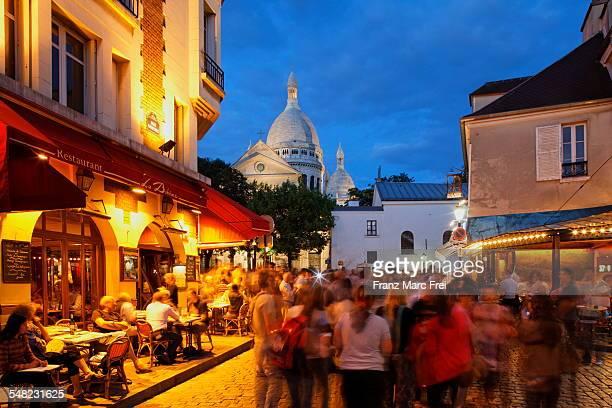 Place du Tertre and Sacre Coeur, Montmatre