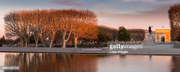 Place Royale du Peyrou in the city of Montpellier