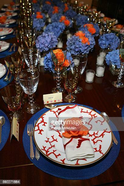 Place Settings attends Kent and Liz Swig Host a Dinner In Honor of Artist Gary Hume at Kent and Liz Swig Duplex on September 22 2005 in New York City
